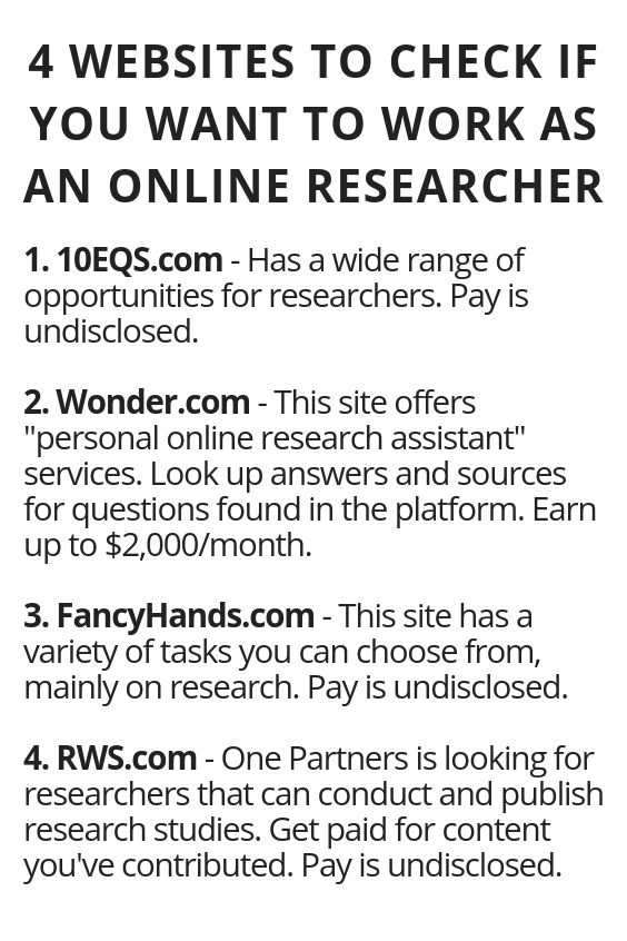 4 Websites To Check If You Want To Work As An Online Researcher