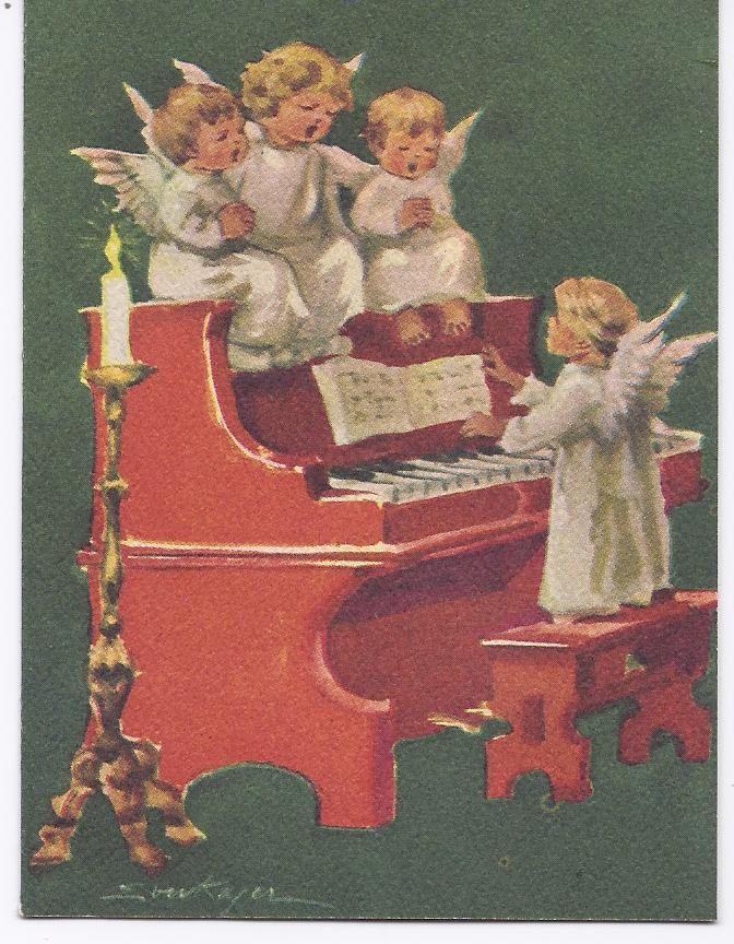 Vintage Christmas Greeting Card: