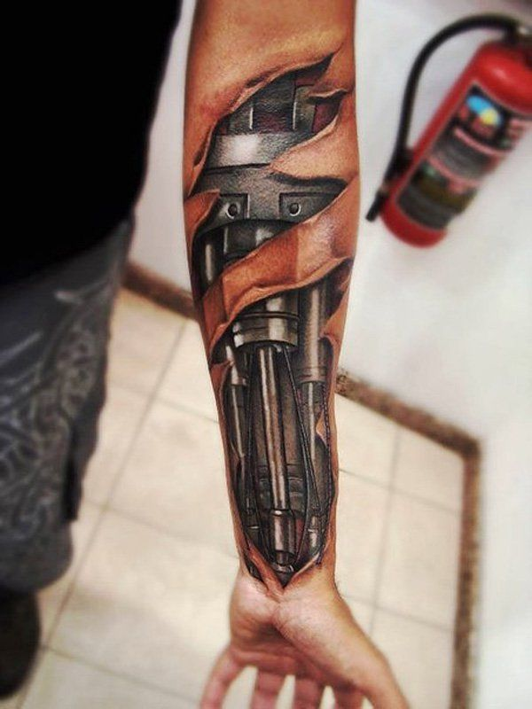 3D Forearm Tattoo for men - 55  Awesome Forearm Tattoos   Art and Design