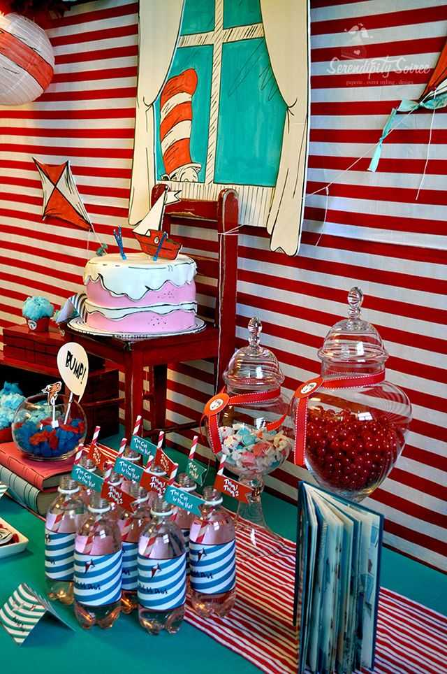 "Serendipity Soiree: {Parties} Suessical ""Cat in the Hat"" Soiree - I like the window!"