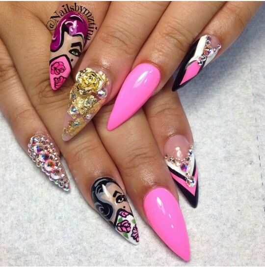 simply stilettos nails