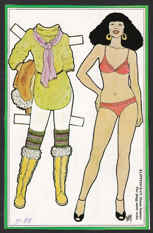 Donna Summer Rare Vintage 1970s Pop Music TV Star Paper Doll | eBay