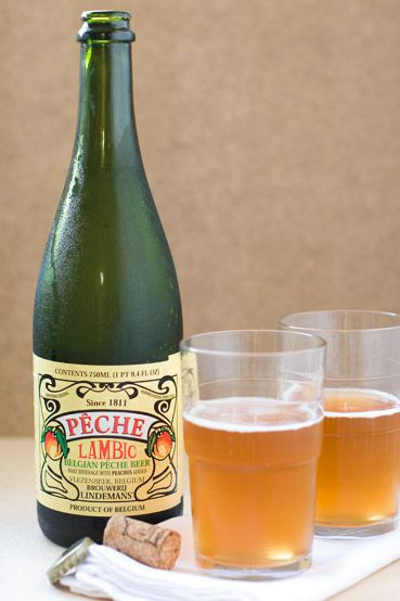 Brouwerij Lindemans Pêche Lambic. Peach beer. Divine. Also comes in pomme and frambroise (apple and raspberry).