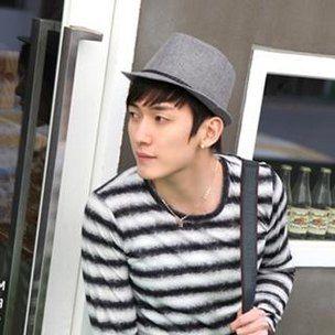 Asian fashion trend grey short brimmed cotton fedora hat for men