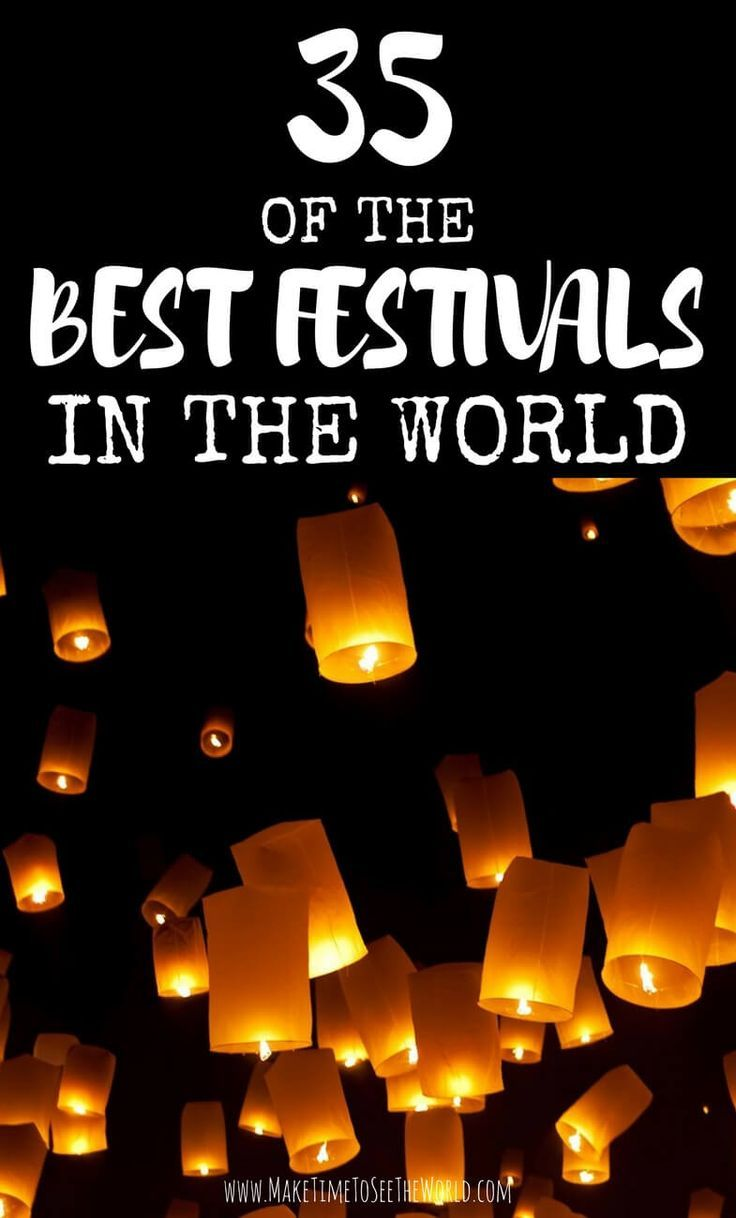 Join me for a run down of the Best Festivals & Cultural Events around the World in 2017