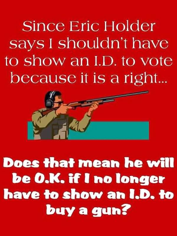 A VERY GOOD question, that points out the duality of liberal views that change to fit their agenda. The 2nd Amendment, it's NOT a suggestion, it's a RIGHT guaranteed by the US Constitution!