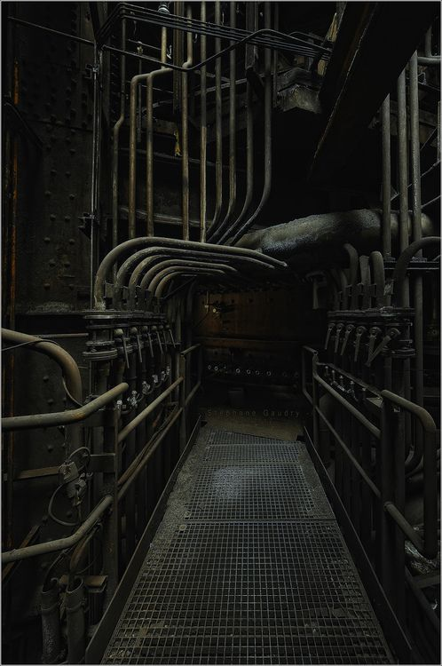 derelictmetropolis:    The intestines of the furnace (by Stephane Gaudry)