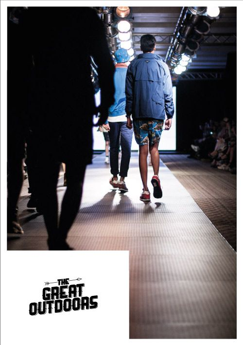 THE GOODS DEPT• presents THE GREAT OUTDOORS, at Men's Fashion Week 2013