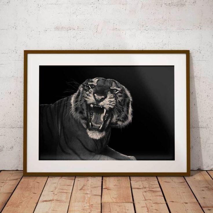 Tiger   #tiger #roar#blackandwhite #poster #art #photography #interior #interiordesign