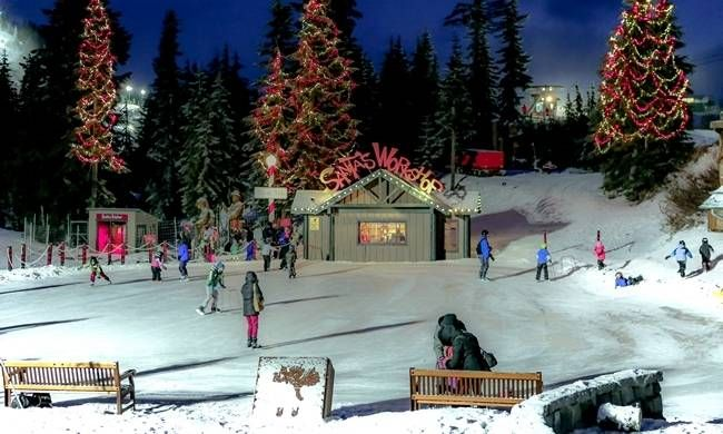 The Peak of Christmas returns to North Vancouver's Grouse Mountain this year starting November 25th! Take the gondola up to the North Pole, have breakfast with Santa, visit his workshop and meet live reindeer. At night, enjoy the breathtaking light installations surrounding Blue Grouse Lake while watching a movie at the Theatre in the Sky. From the slide zone to the skating rink, The Peak of Christmas offers holiday fun for everyone in the family!