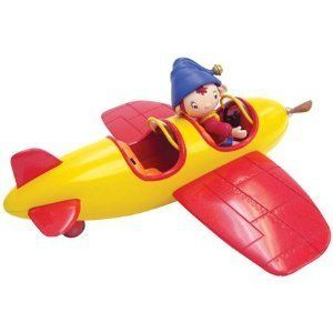 "Noddy Remote Radio Control Airplane Toy by Bandai. $39.99. Product Dimensions: 8 x 18 x 9 cm ; 472 g. Help Noddy ""fly"" around Toy land in his colorful red and yellow plane! This fun remote control plane toy is based on Noddy's own jolly plane, and comes with a built-in Noddy figure to ""fly"" the plane for you! The easy-to-use controls allow you to drive Noddy's plane forwards, backwards and around corners around the floor on its sturdy wheels . The plane even has lights in the ..."