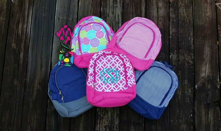 Preschool Backpacks - Toddler Backpack - Backpack - Personalized - Kids Backpack - Back to School - Monogrammed Backpacks - Daycare by TCPassionateStitches on Etsy https://www.etsy.com/listing/196144158/preschool-backpacks-toddler-backpack