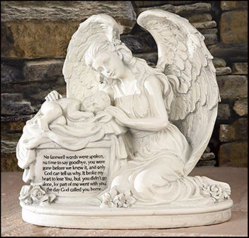 Angel Baby Memorial Statue Figurine Miscarriage Tribute | eBay
