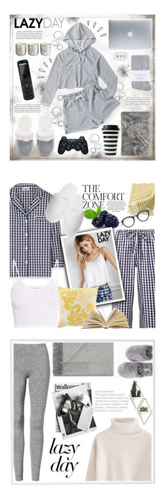 """""""Winners for Sleep In: Lazy Day"""" by polyvore ❤ liked on Polyvore featuring Illume, Victoria's Secret, Johnstons, Incase, Sony, Old Navy, Logitech, Sleepy Jones, BasicGrey and Forever 21"""
