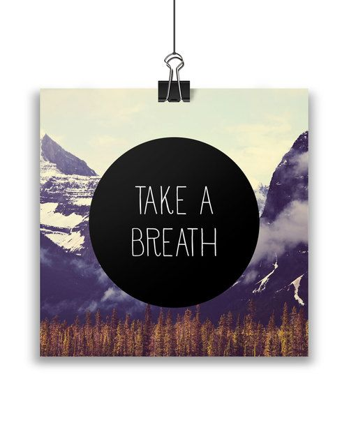 Take a breath card by Away from the city