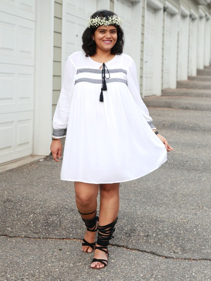 White Tunic Gown