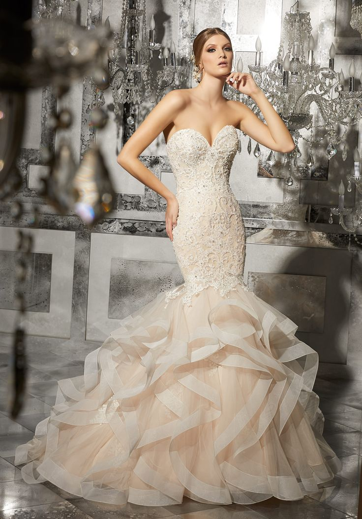 Fabulous Mori Lee Gown Size Ivory is available at Debra us Bridal Shop