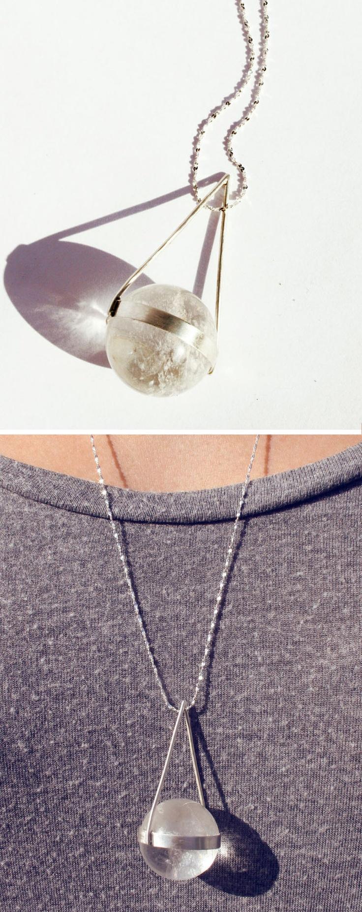 Moon glow orb necklace / StefanieSheehan on etsy