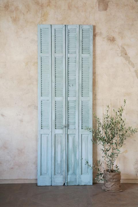 duck-egg blue shutters