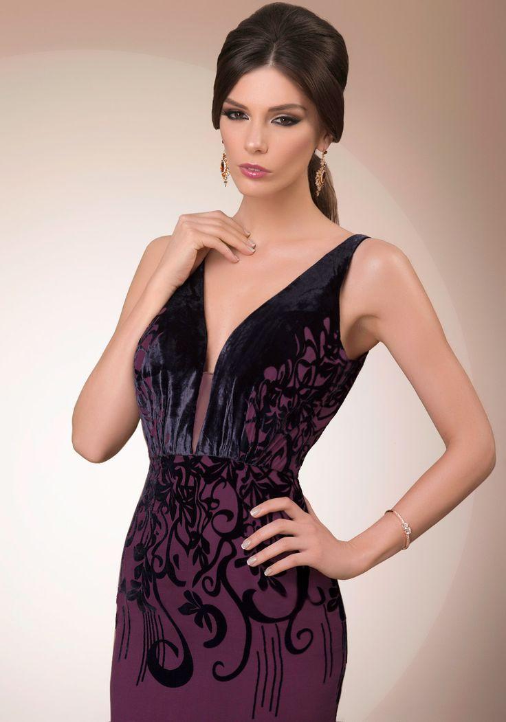 My Dark Secret, deep V luxury cocktail dress, 2016 My Secret by Bien Savvy