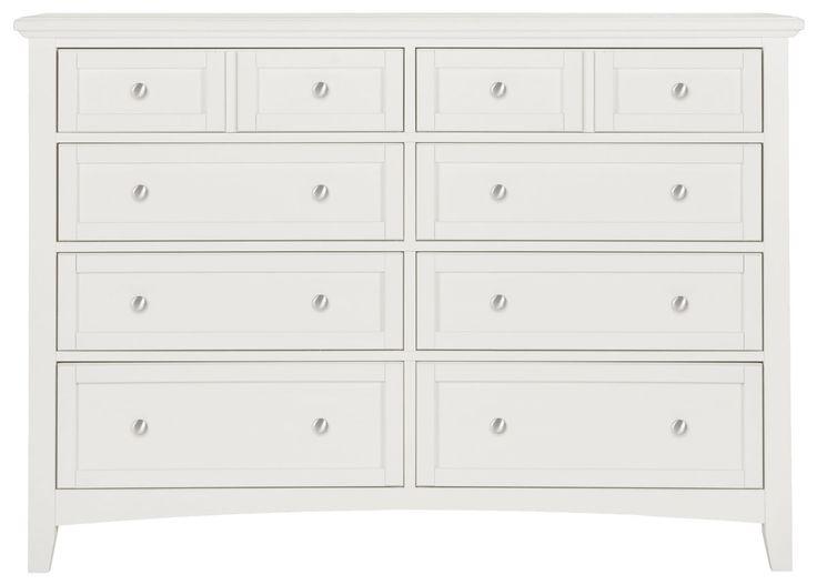 Captiva White Large Dresser
