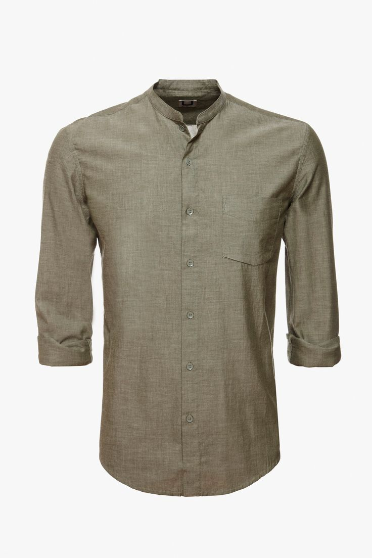 Camisa mao chambray - camisas | Adolfo Dominguez shop online