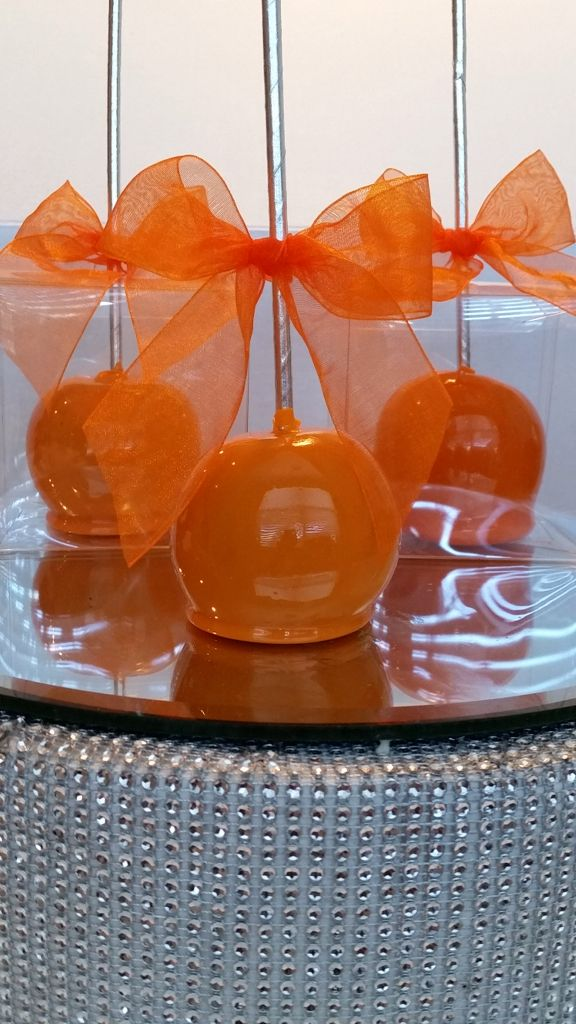 Orange Candy Apples