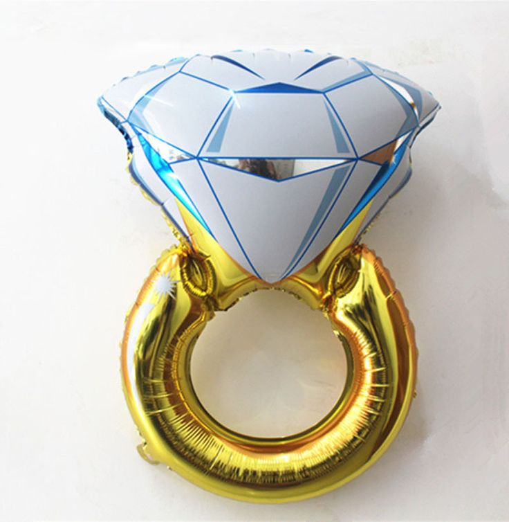 Hen party decor essential! This is engagement ring balloon is one of our favourite bridal shower decorations #hen #party #balloon #engagement