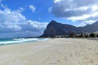 Strand von San Vito Lo Capo Sizilien