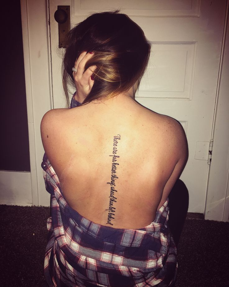 The 25 best spine quote tattoos ideas on pinterest for Spine tattoo quotes