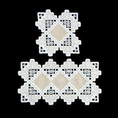 Triple Tan Doilies (Hardanger embroidery)