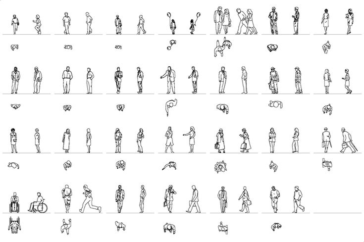 Drawing Property Lines In Revit : People silhouettes icons pinterest