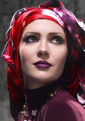 arab girl lipstic with face makeup look jailanatef