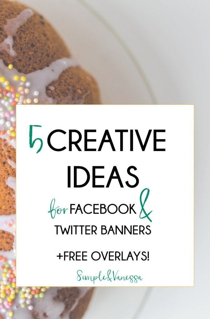 Stumped when it comes to designing your social media banners? I have awesome news, my friend: 5 creative ideas for Facebook and Twitter Banners. Plus, get some FREE overlays, that will help you get it right, every time. Say no to the box! http://SimpleandVanessa.com