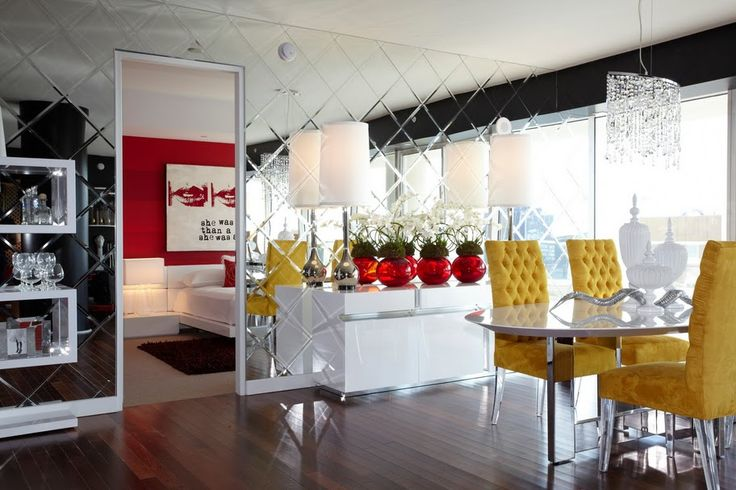 Try using mirrors next time you renovate your home to visually enlarge small rooms!
