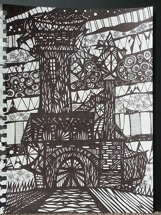 Black Sharpie: by BSStrocen - picture was cut up and used in collages