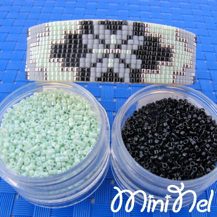 Manchette en perles Miyuki Delicas : Bracelet par les-bijoux-de-mini-nel