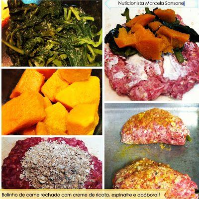 Nutrição Holística: Receita: Bolinho de carne recheado com abóbora e espinafre!