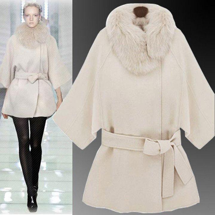 faux fur collar jacket cloak – Maries Boutique