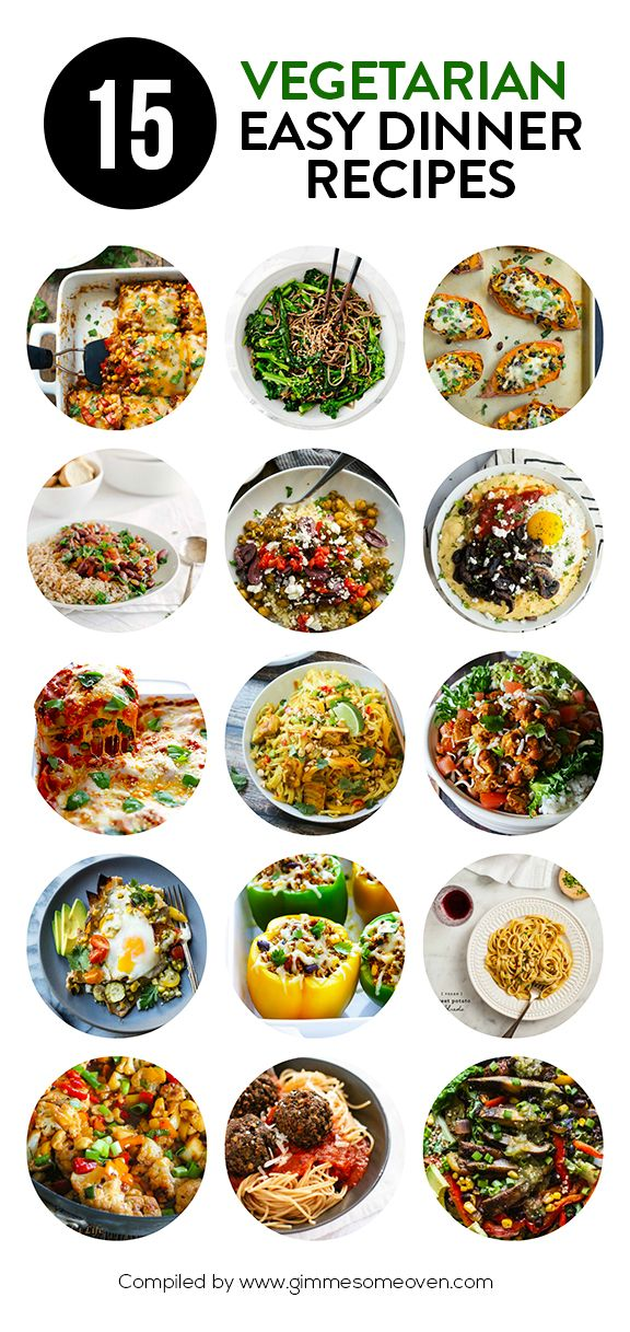 Best 25 easy vegetarian dinner recipes ideas on pinterest easy 15 easy vegetarian dinner recipes a delicious collection of recipes from food bloggers forumfinder Gallery