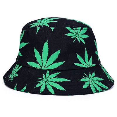 Multi-Color Maple Leaf Beach Bucket Hat