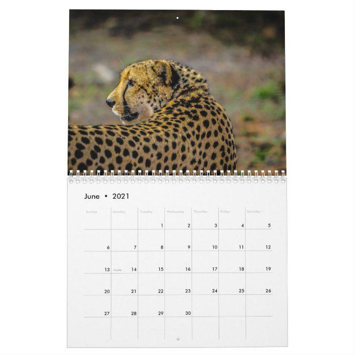 Cheetah 2020 Calendar Zazzle Com Cheetah Cheetahs Tattoos