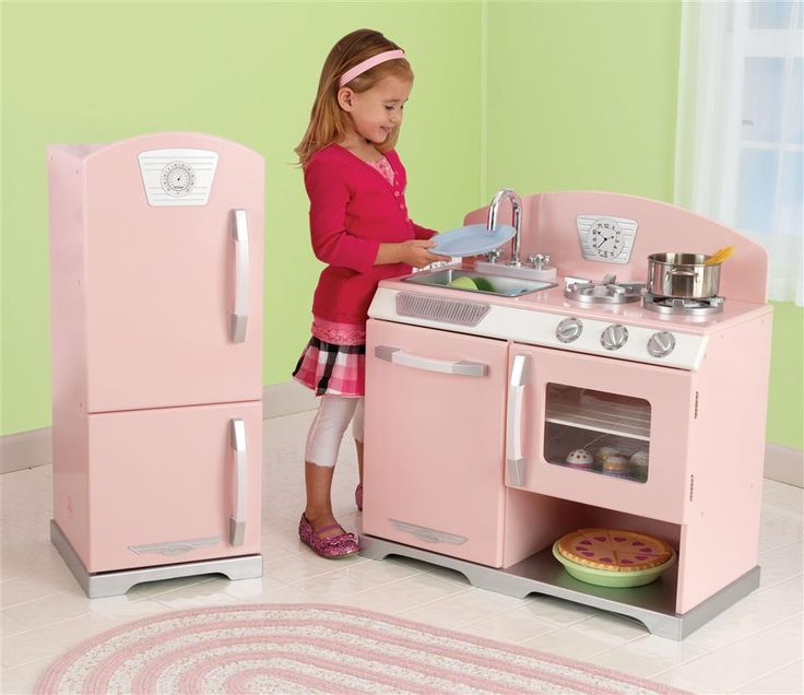 KidKraft - Retro Kitchen w Fridge Playset in Pink