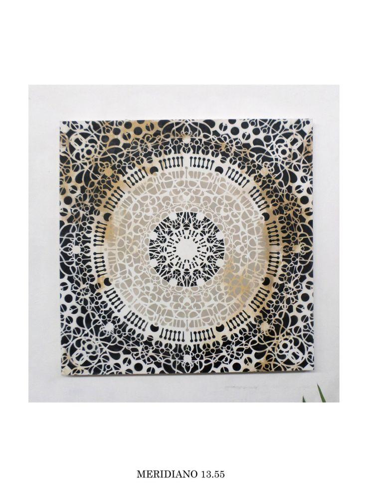contemporary art canvas with moroccan inspiration, mandala, modern interor design, modern art di MERIDIANO1355 su Etsy