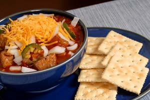 We love this recipe for Football days! although this one is in the crockpot, so we are going to give it a try making it this way. Brett Favre's Creole Style Chili Crockpot Recipe from CDKitchen.com