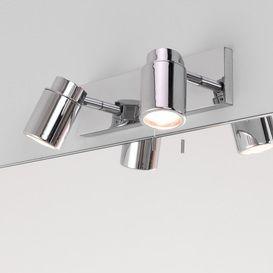 6121 Como Double Bathroom Spotlight With Pull Switch, IP44