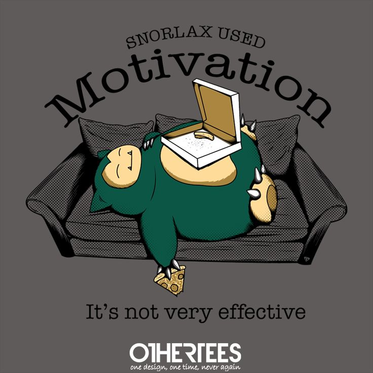 """""""Snorlax used motivation..."""" by TomLedin Shirt on sale until 09 June on http://othertees.com Pin it for a chance at a FREE TEE! #pokemon"""