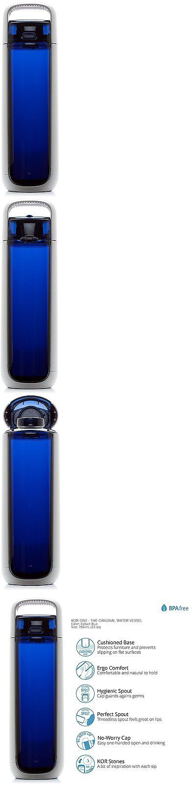 Hydration 158950: Kor One Bpa Free Water Bottle Cobalt Blue 750Ml BUY IT NOW ONLY: $30.63