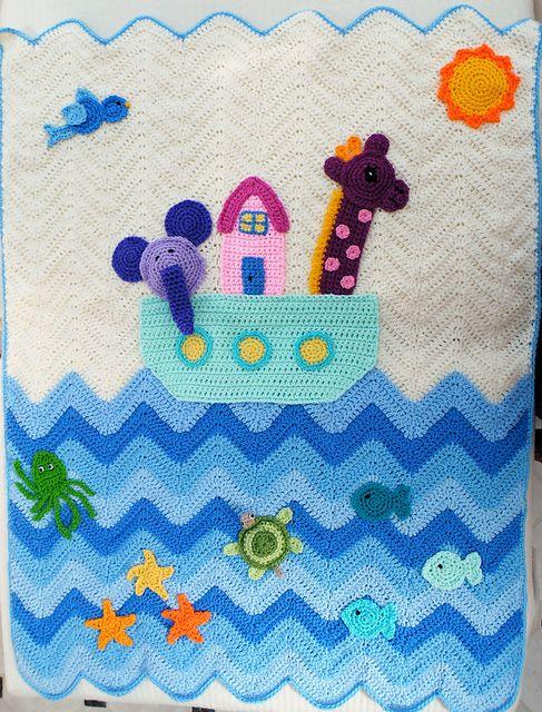 Maryfairy's Noah's Ark Blanket # 9