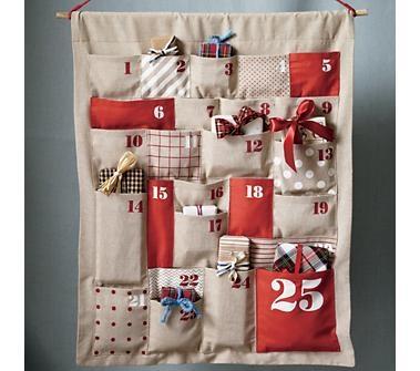 Land of Nod: Christmas Advent Calendar (christmas, ideas, inspiration, crafts, DIY, do it yourself, holidays)